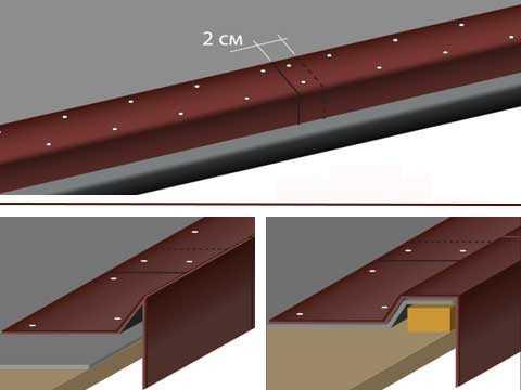 Как установить карнизную планку-капельник для металлочерепицы