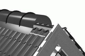 Монтаж конька на крышу из профнастила. инструкция