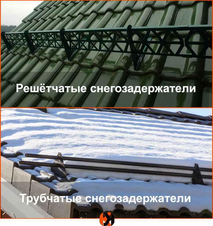 Снегозадержатели на металлочерепицу — виды, установка на крыше своими руками
