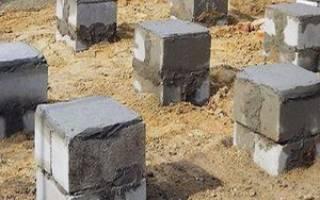 Столбчатый фундамент из блоков 20х20х40 - правила