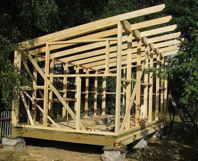 Односкатная крыша своими руками - устройство, как построить пошагово