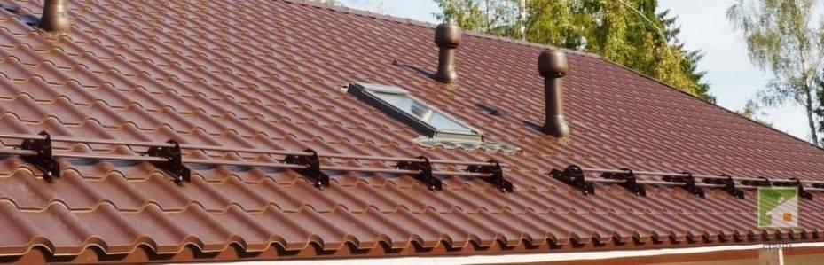 Снегозадержатели на крышу своими руками: устройство и монтаж