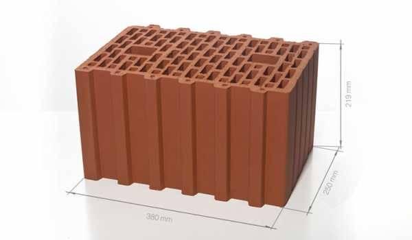 Размеры керамоблоков