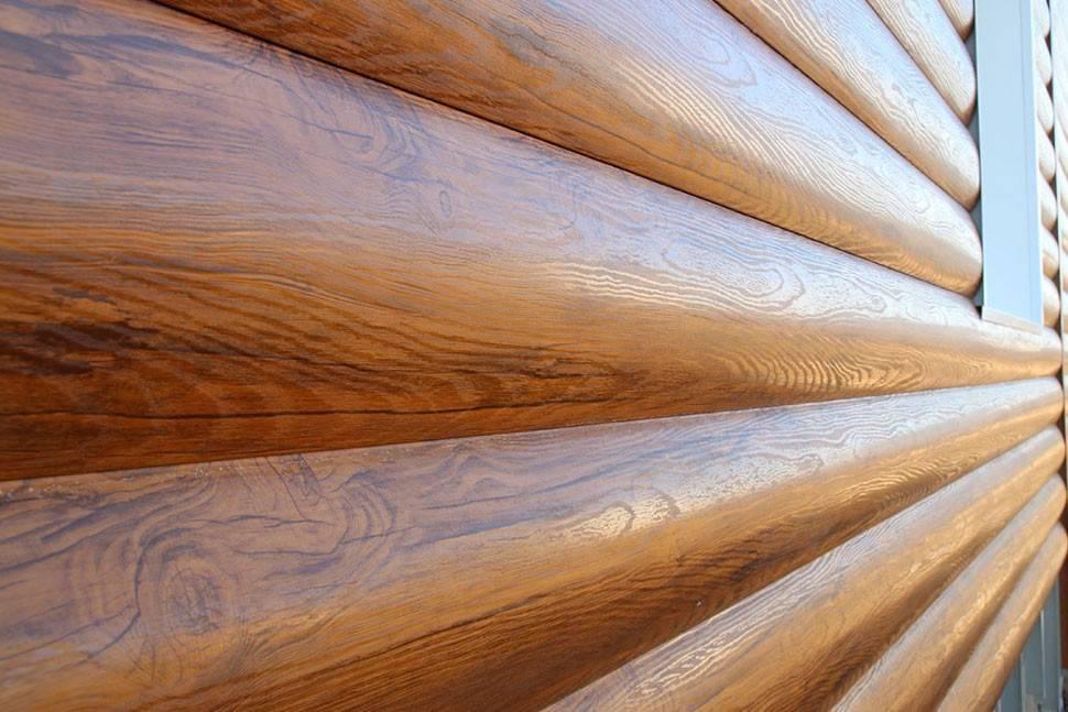 Сайдинг блок-хаус (27 фото): выбираем металлический материал под бревно для наружной отделки, красивые варианты облицовки дома