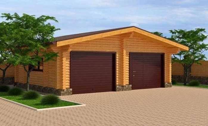 С чего начать строительство гаража из бруса своими руками? чертежи и фото