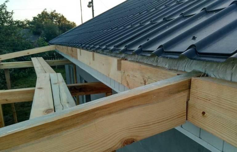 Крыша к пристройке своими руками