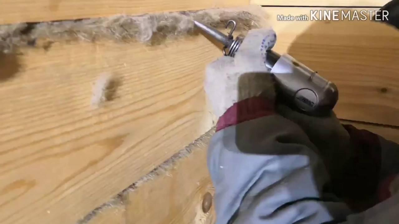 Как правильно конопатить дом из бруса и трещины в срубе