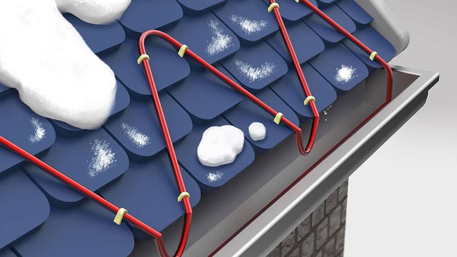Греющий кабель для водостока и крыши - что это такое и как правильно сделать антиобледенительную систему (135 фото)
