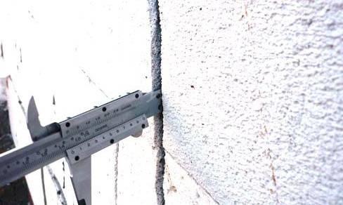 Как заделать трещину в стене из пеноблоков?