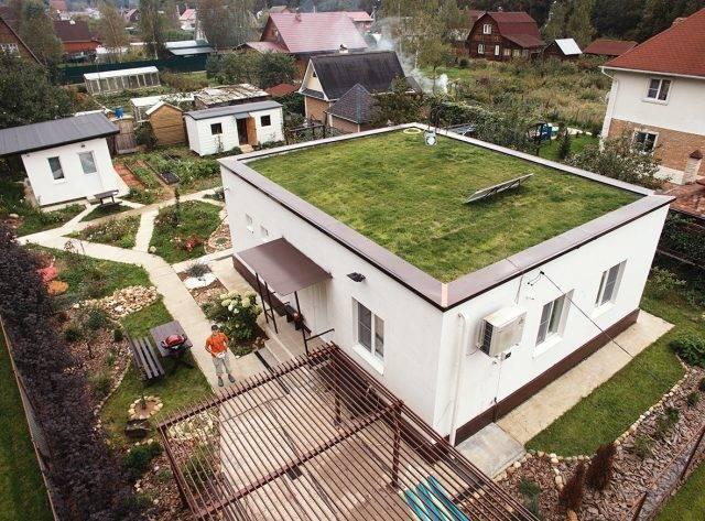 Проекты домов с плоской крышей: особенности кровли и примеры на фото и видео