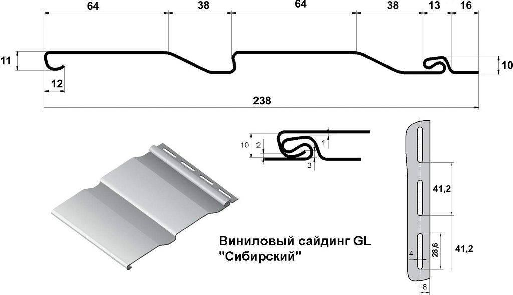Размеры сайдинга: ширина, длина панели винилового, металлического изделия, расчет количества для наружной обшивки дома