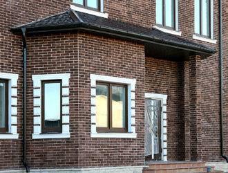 Отделка фасада кирпичом - 125 фото лучших идей и советы по укладке