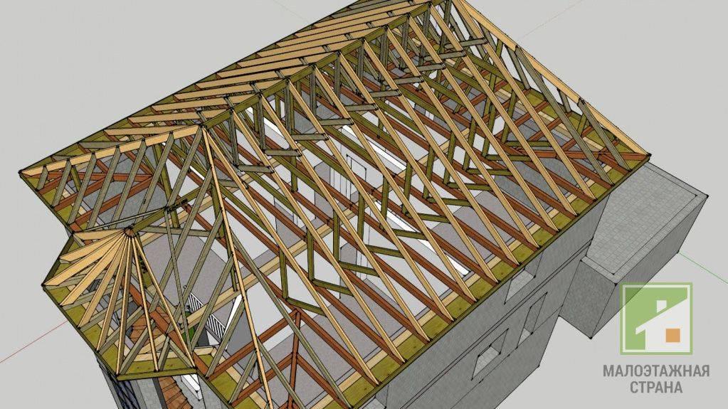 Как произвести расчет стропильной системы вальмовой крыши своими руками