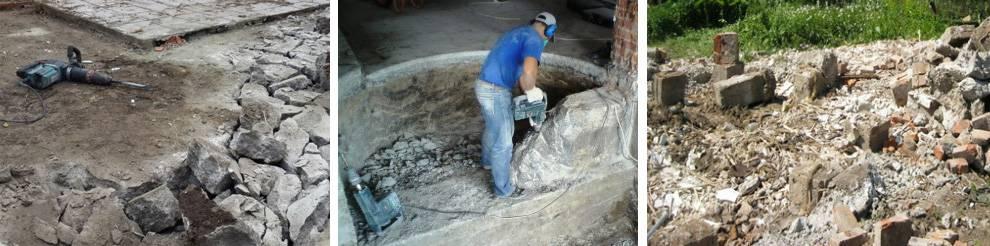 Демонтаж старого фундамента - фундамент своими руками