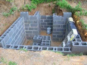 Как построить гараж из керамзитобетонных блоков своими руками