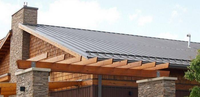 Установка снегозадержателей на крыше из металлочерепицы или как обезопасить себя от схода снежной массы
