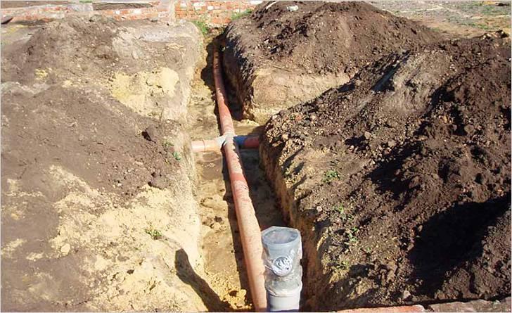 Самостоятельная копка траншеи для водопроводных труб