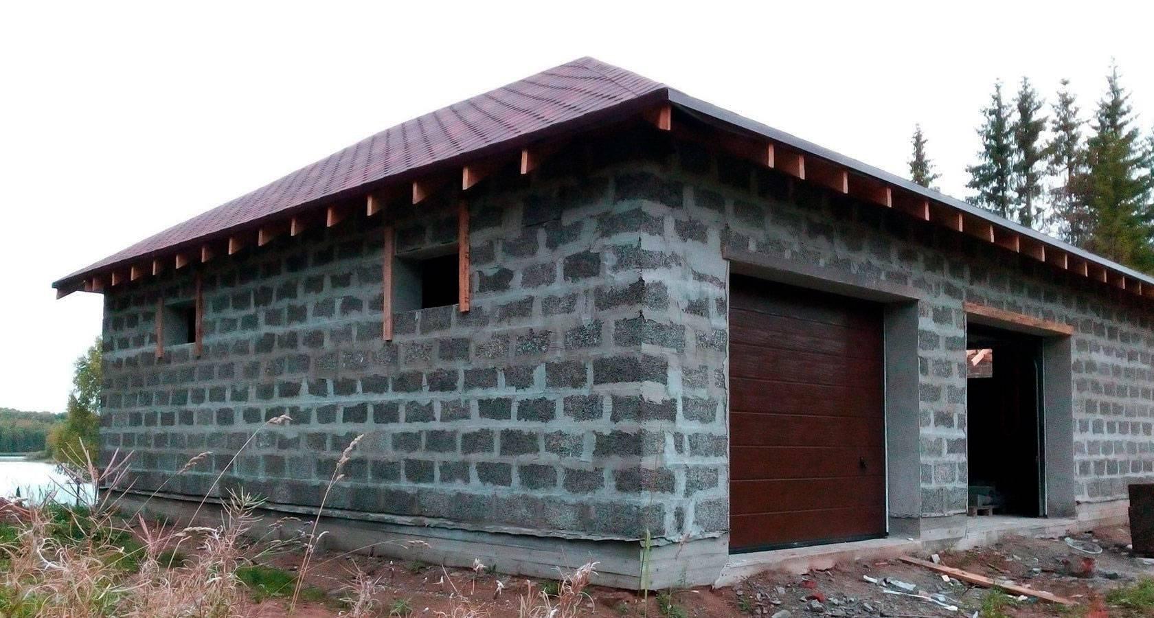 Сколько пеноблока нужно на гараж размером 6 на 4, строительство своими руками: инструкция, фото и видео-уроки