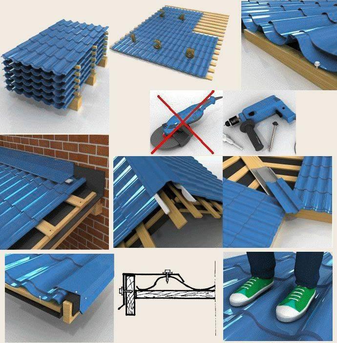 Монтаж крыши из металлочерепицы своими руками | инструкция по монтажу
