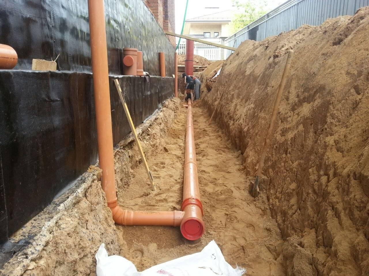 Пристенный дренаж фундамента: специфика обустройства системы отвода воды
