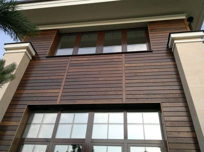 Фасадная доска из дпк (планкен) для наружной отделки дома