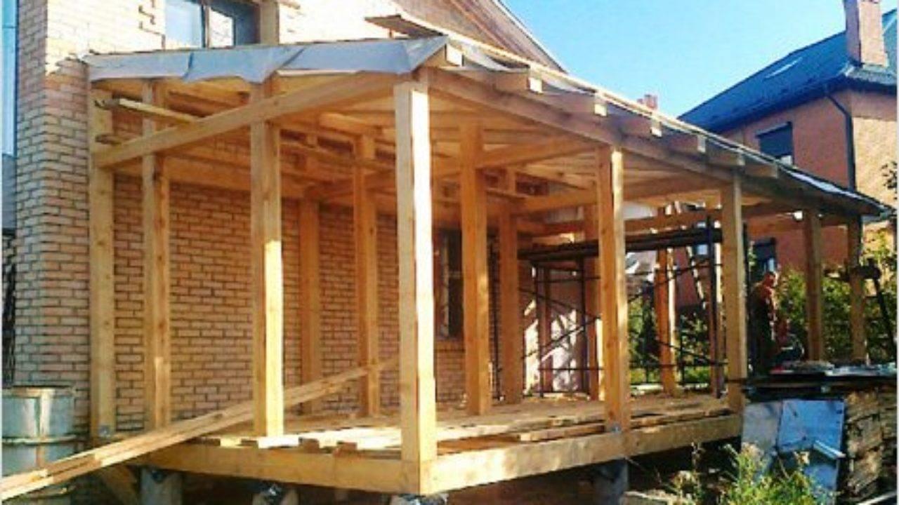 Деревянная пристройка из бруса к кирпичному дому своими руками: пошаговые действия