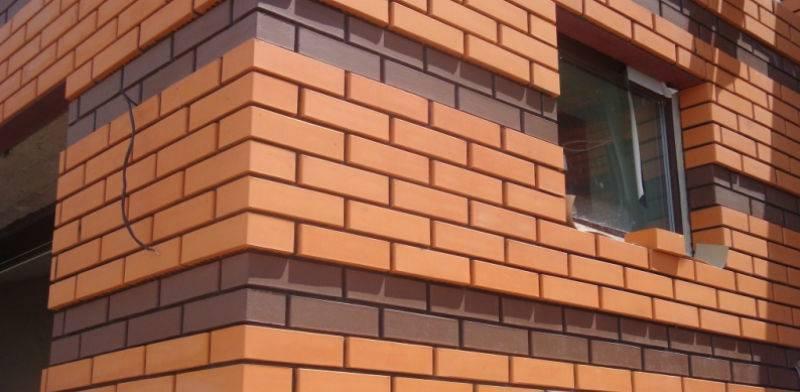 Как производится обрамление окон на фасаде дома облицовочным кирпичом + фото кладки