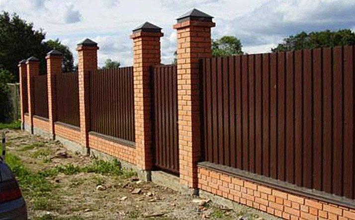 Забор из профнастила на ленточном фундаменте - фундамент своими руками