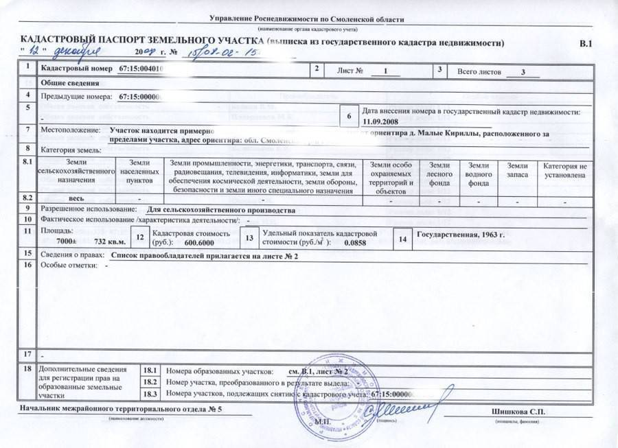 Как выглядит кадастровый паспорт на земельный участок: бланк и заполненный образец, из каких листов состоит, содержание и фото документа юрэксперт онлайн