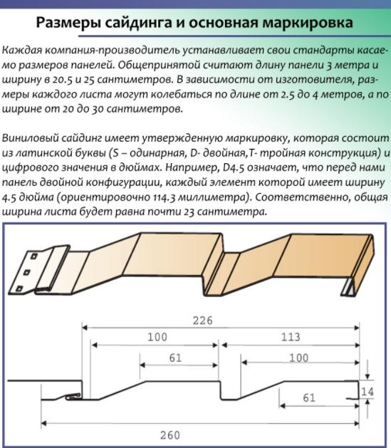 Основные размеры сайдинга - ширина, длина панели + видео