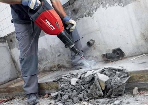 Демонтаж фундаментов, а также прочих строительных конструкций