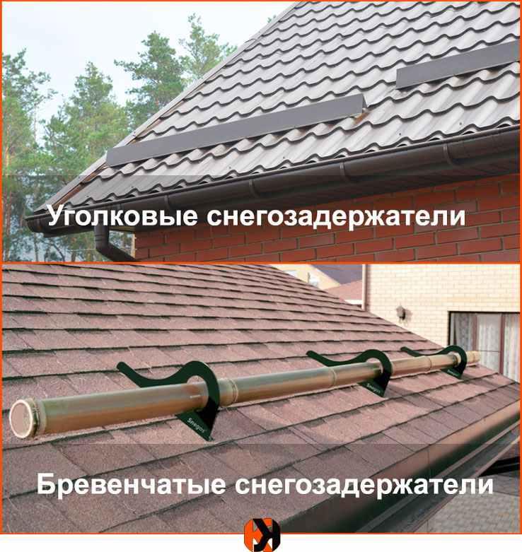 Как правильно выполнить установку снегозадержателей на крыше – виды и способы