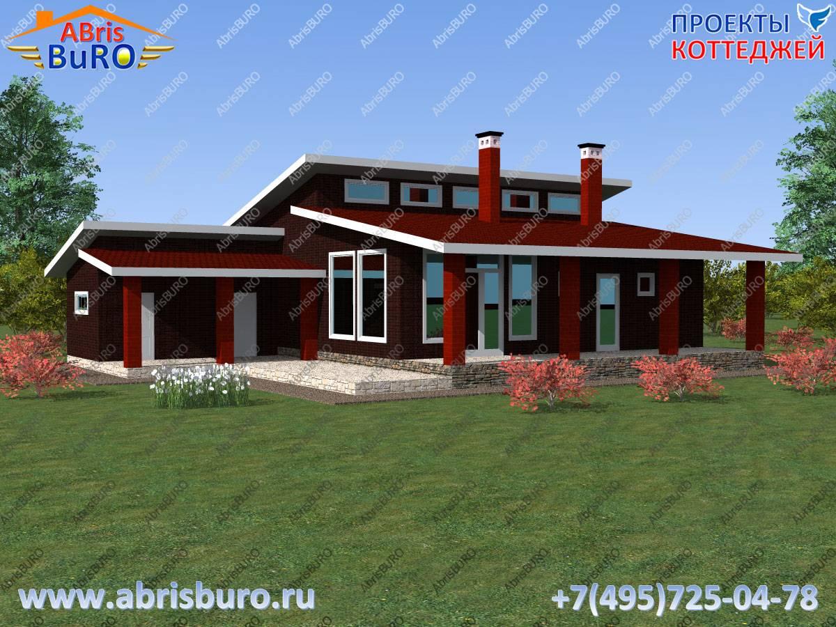 Проекты домов с односкатной крышей – 75 фото и варианты планировки
