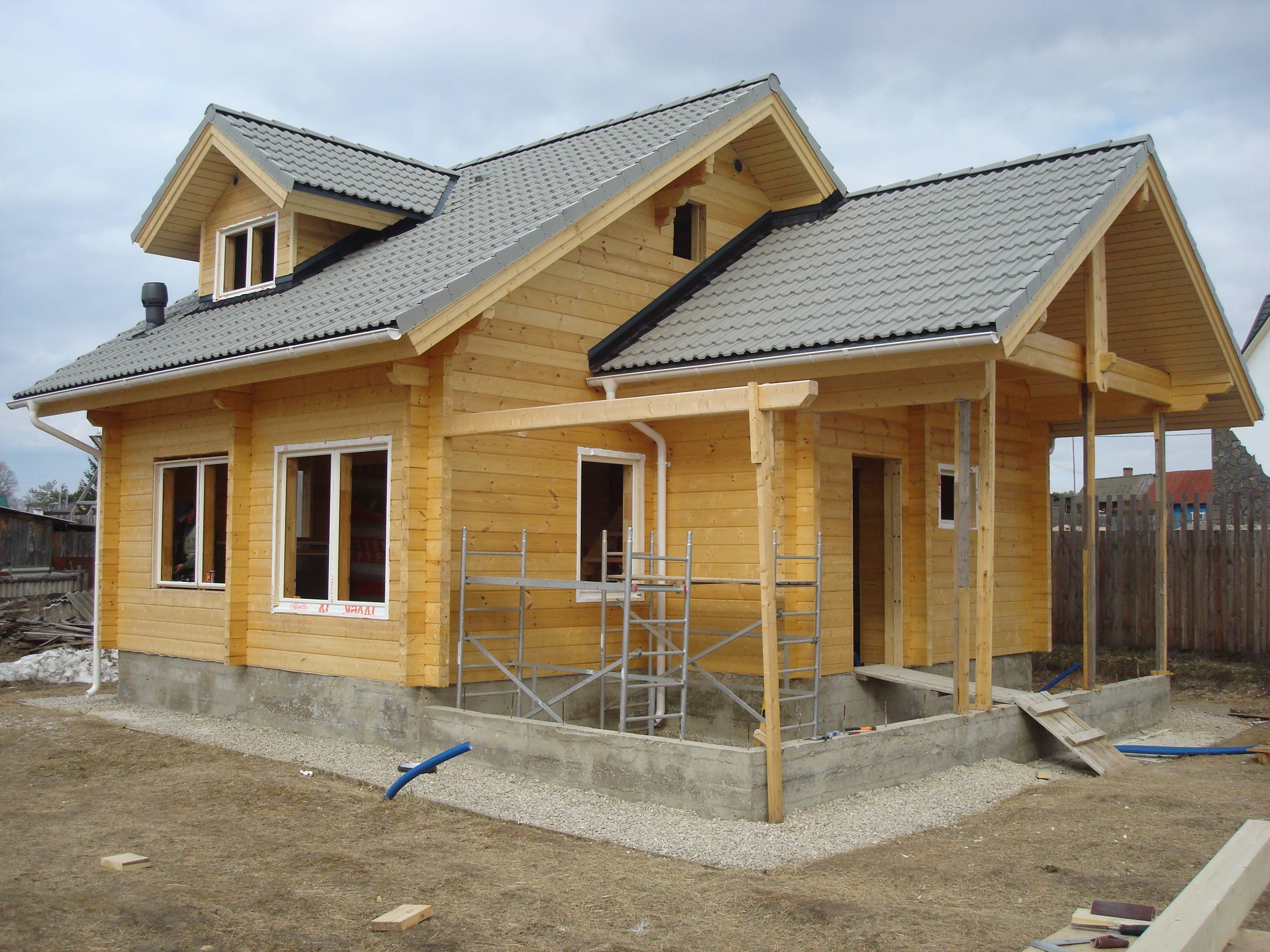 Строительство домов из профилированного бруса: проекты, цены и особенности конструкций
