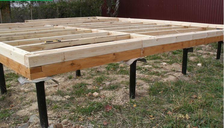 Как сделать нижнюю обвязку каркасного дома на столбчатом фундаменте