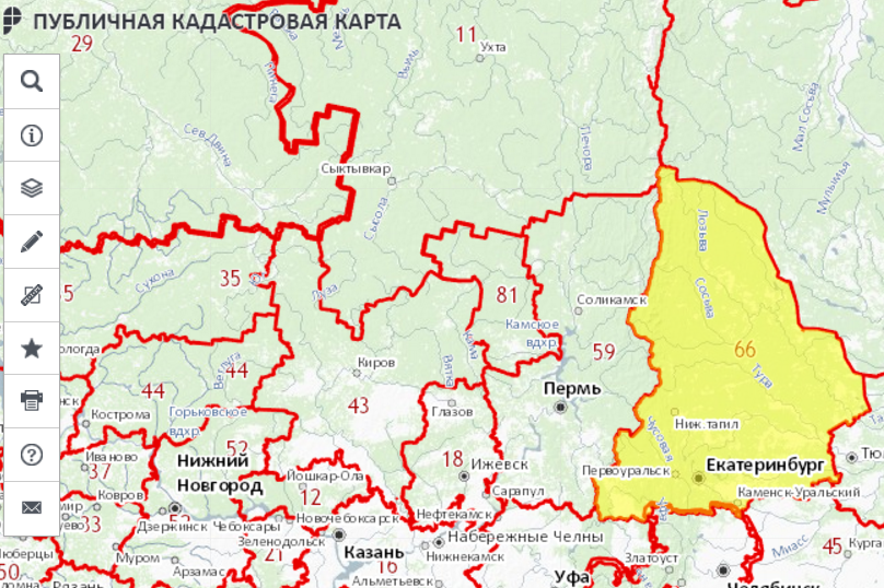 Как найти свободный земельный участок на публичной кадастровой карте