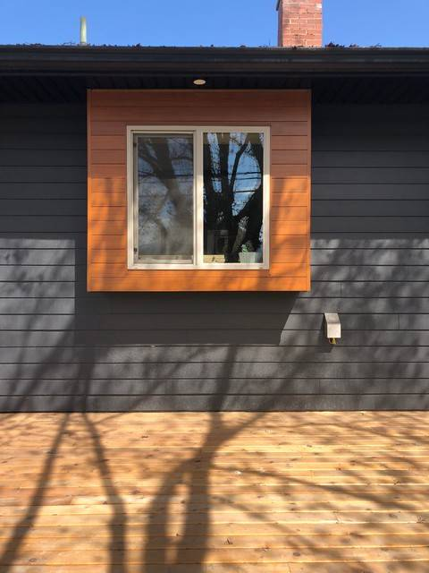 Покраска имитации бруса: как внутри, так и снаружи дома