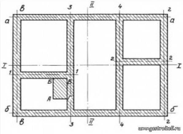 План фундамента: проектирование для частных домов, проекты и чертежи, планировка для малоэтажного жилого коттеджа