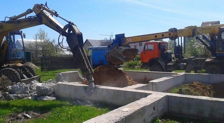 Разборка строительных конструкций: демонтаж фундамента