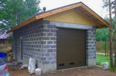 Строительство гаража из керамзитобетонных блоков: инструкция по кладке, цены на работу специалистов