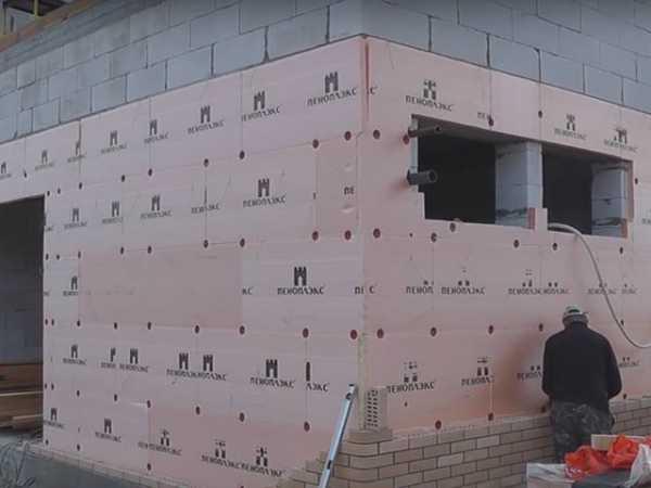 Утепление стен из газобетона снаружи минватой или пеноплексом своими руками