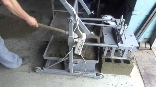 Чертежи и схемы станков для производства шлакоблоков своими руками