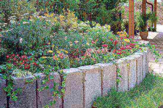 Особенности подпорных стен из блоков