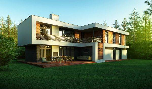 Проекты домов с плоской крышей: особенности планировки и материалов