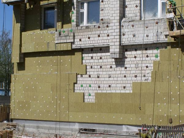 Технология утепление фасада минватой: подробная видеоинструкция