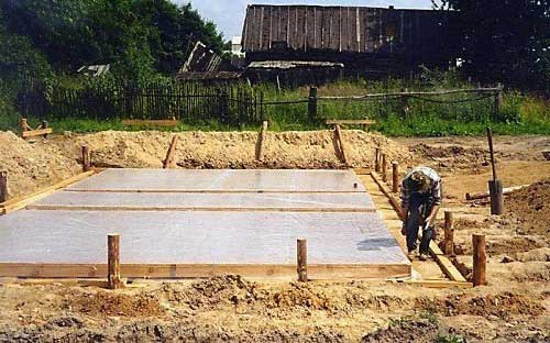Подготовка и заливка фундамента под гараж своими руками