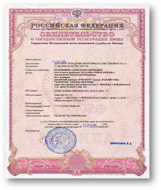 Удостоверяющие документы о праве собственности на землю