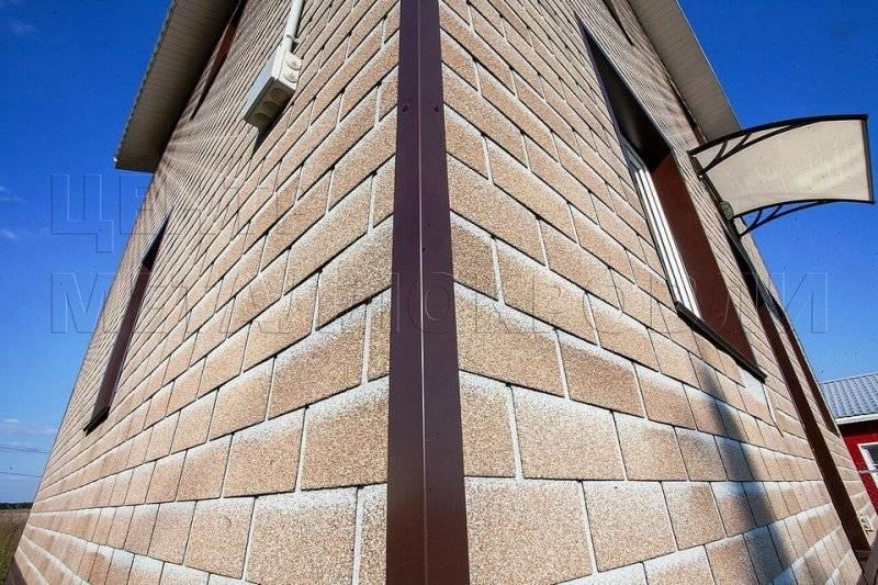 Облицовка фасадной панелью hauberk
