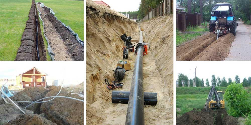 На какую глубину закапывать водопроводную трубу в частном доме и септик
