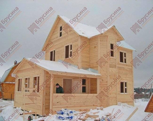 Правильный деревянный дом из строительного бруса. толщина стен из бруса.
